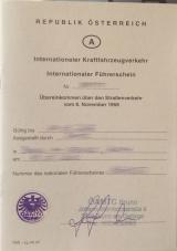 internationaler Führerschein Abkommen 1968
