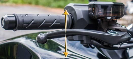 Bremshebel und Kupplungshebel Hoehe einstellen