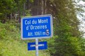 Col-du-Mont-d'Orzeires-Passhoehe