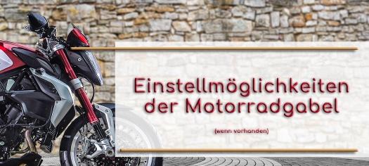 Einstellmöglichkeiten der Motorradgabel